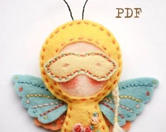 Cute Felt Butterfly - PDF Pattern! felt brooch Felt Handmade Brooch