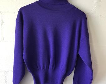 80s Purple Bogner Turtle Neck.