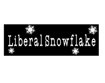 Liberal Snowflake bumper sticker/window decal