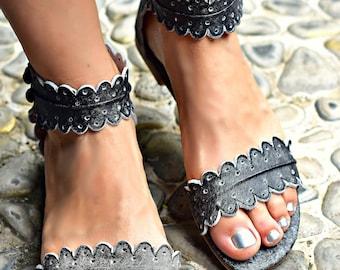 NEW COLOR!!!! MIDSUMMER. Boho leather sandals / barefoot leather sandals / women shoes / flat shoes / boho shoes / barefoot sandals