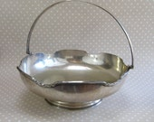 Vintage Silver Plated Boardman & Glossop Heavy Large Fruit Bowl with Carry Handle