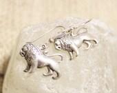 Sterling Silver Leo Earrings, Astrology Jewelry, Zodiac Signs Jewelry