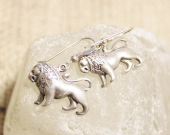 Sterling Silver Leo Earrings, Astrology Jewelry, Zodiac Signs Jewelry