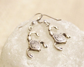 Sterling Silver Scorpio Earrings, Astrology Jewelry, Zodiac Signs Jewelry