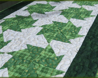 Quilted St Patrick's Day Table Runner Quilt 412
