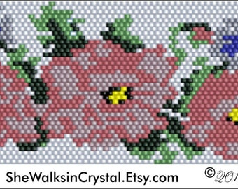 Cheryl's Roses Peyote Pattern .PDF File