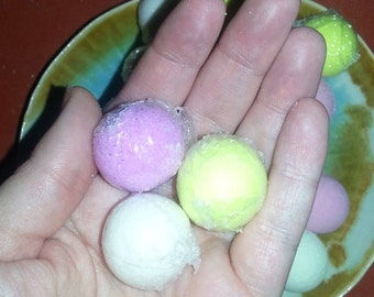 Mini bath bomb, foot soak, gift, wedding,  Christmas,  birthday,  spa relaxation gift, hand soak