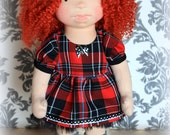 """Dress with sleeves for 16"""" Waldorf doll,doll's dress,doll's clothing,Waldorf doll ,doll dress ,doll clothes,Waldorf,doll"""