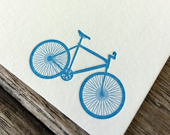 Bicycle Letterpress Notecard Set of 10