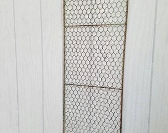 Chicken Wire Trellis Fits in #10 Metal Buckets Farmhouse