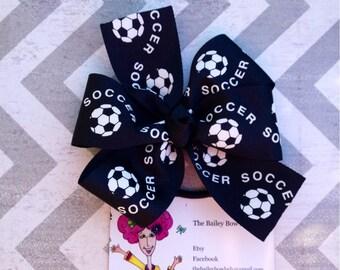 Soccer Hair Bow