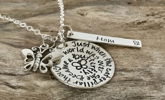 Personalized Daughter Sterling Silver Necklace - Hand Stamped Young Girl / Teen Gift  / Gift from Dad or Mom