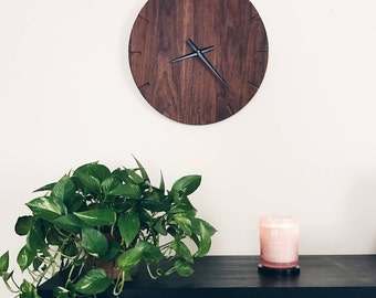 Wooden Wall Clock, Wall Decor, Large Wall Clock, Home Decor, House Warming Gift, Minimalist Decor, Handmade Wall Clock