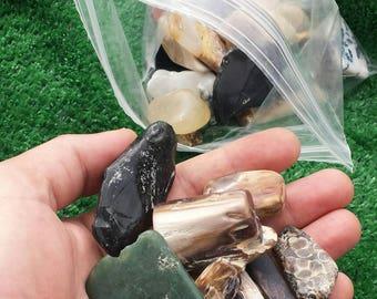 One pound polished gemstones mix