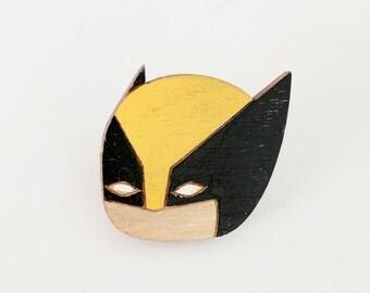 Wolverine - Logan -  X-men - James Howlett - Marvel - Comic Book characters - Wolverine pinback - Geek Gift -Laser Cut & Hand Painted