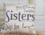 Sisters Gift Quote Pillow