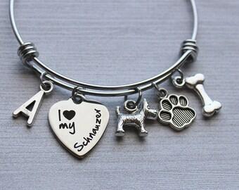 I Love My Schnauzer Bracelet, Schnauzer Lovers Gifts, Schnauzer Gifts, Schnauzer Dog Gifts, Schnauzer Lovers, Gifts for Schnauzer Lovers