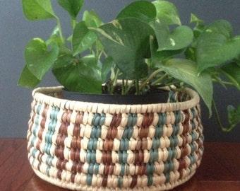 SALE! vintage hand woven basket