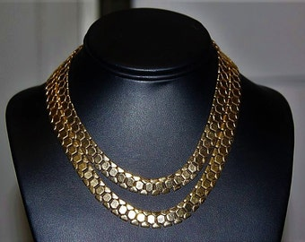 SALE! Vintage Couture, Articulated Cleopatra High End Astounding Choker Necklace NC2