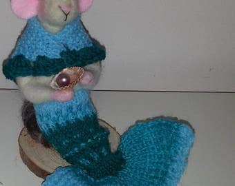 Needle Felted and Knitted Mer-Mouse