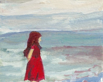 She Wore Her Red Dress - limited edition print of an original oil painting