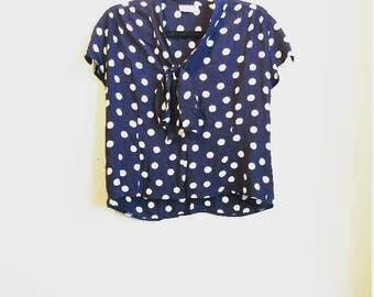 Polka dot blouse | Etsy