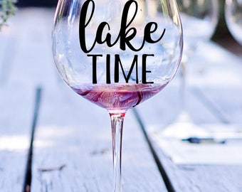 On Lake Time Decal, I'd Rather Be At The Lake Decal, Lake Decal, On The Lake Decal, Fishing Decal, Boating Decal, Lake, Summer Decal, Paddle