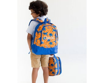 Dino-Mite Preschool Backpack - May be Monogrammed or Personalized with Embroidered Name - Back to School Dinosaur Book Bag