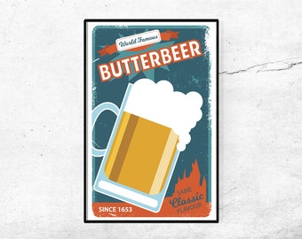 Vintage Butterbeer Poster Ad