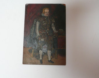 Copy of Diego Velazquez (1599-1660) painting Philip IV of Spain in Brown and Silver