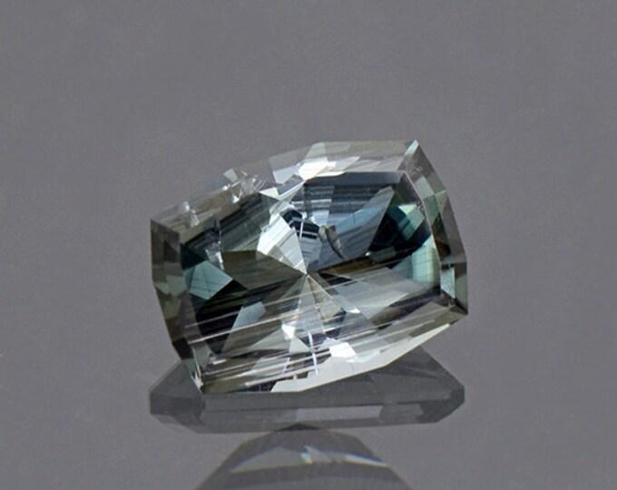 Interesting Silvery Blue Green Tourmaline Gemstone from Brazil 1.75 cts.