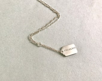 Personalized Priceless Tag Necklace. sterling silver