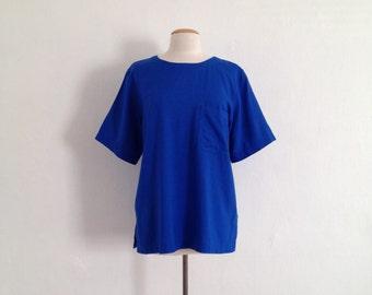 Cobalt blue blouse | Etsy