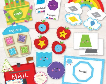 Shapes Preschool Pack - AUTOMATIC DOWNLOAD