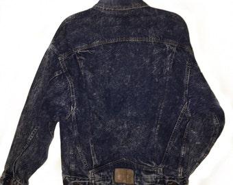 Vintage Levis Denim Jacket Acid Wash 90s