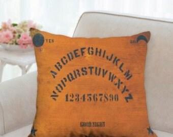 Ouija Game Board Rustic Halloween Pillow