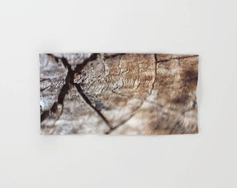 Hand Towels - Wood Look - Wood Photograph - Rustic Decor - Microfiber - Cotton Terry Cloth - Made to Order