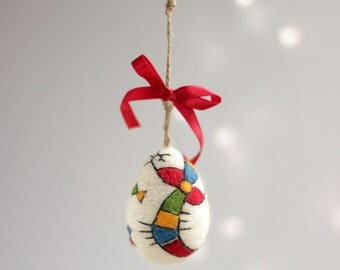 Easter Egg Decoration - Needle Felt Egg Ornament - Easter Home Decoration - Spring Decoration - Handmade Egg - Home Decor - Colorful Egg
