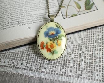 Wildflower Necklace - Vintage - Antique Bronze