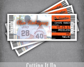 ticket template for mac - sports wedding tickets tags and invitations by cuttingitup