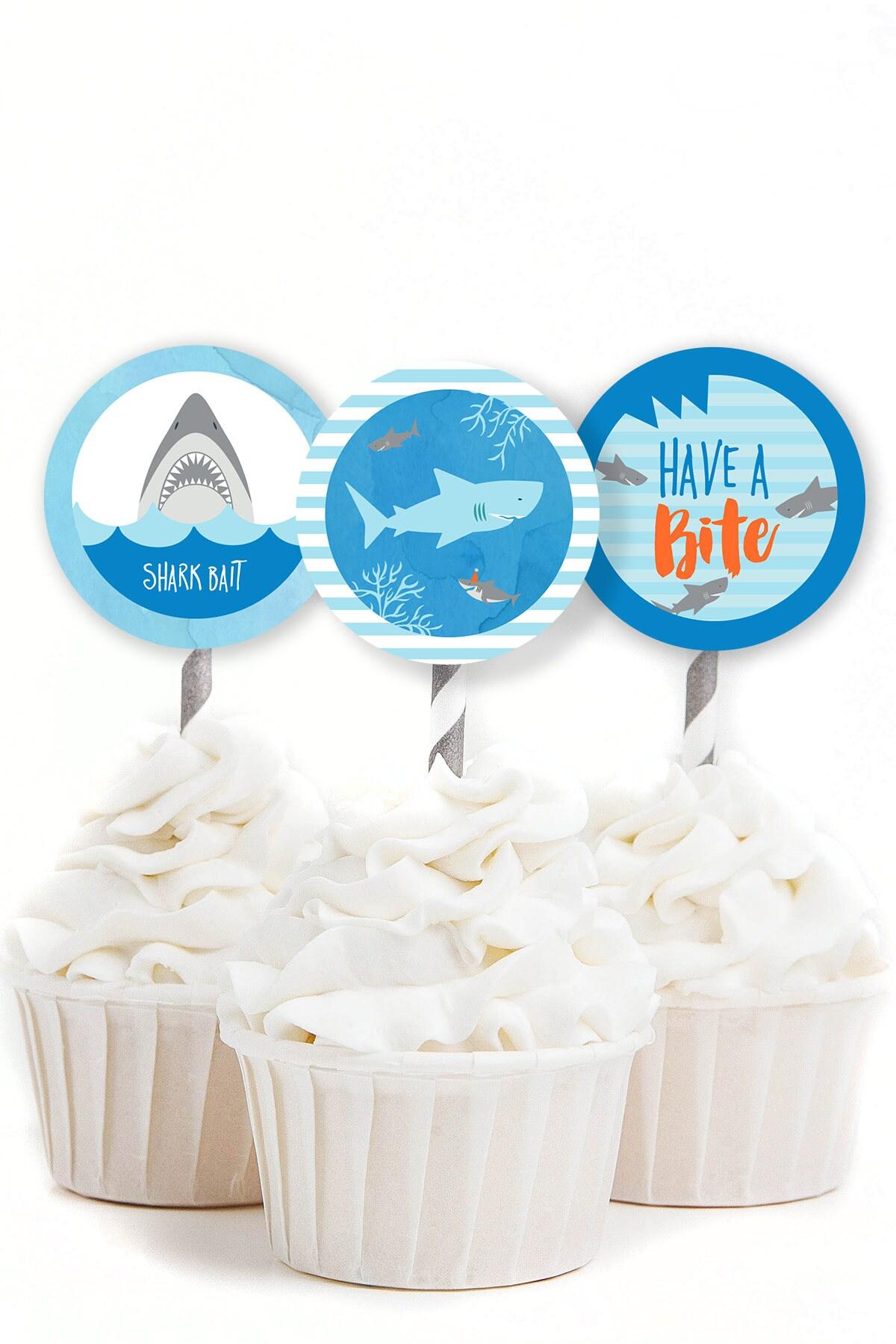 recipe: shark cupcake topper [31]