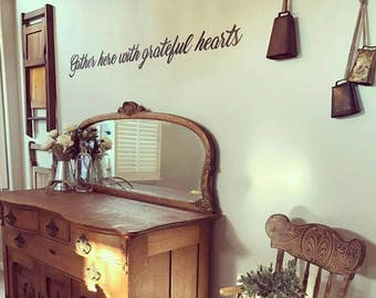 Individual Metal Words - Gather here with grateful hearts