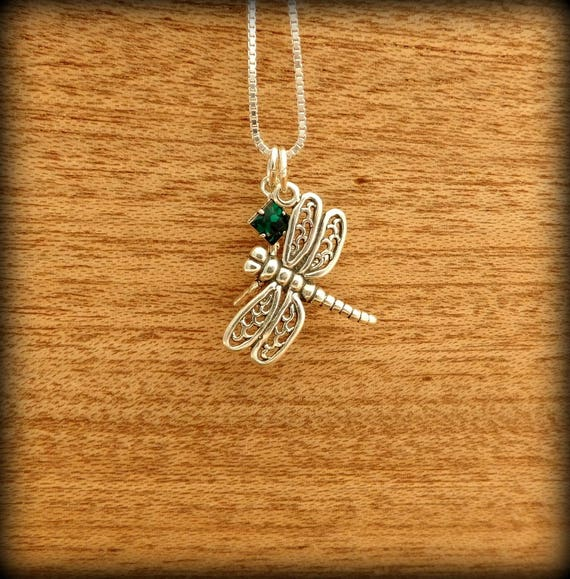 Sterling silver  dragon fly necklace,  symbol of change, renaissance jewelry, self realization jewelry