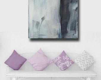 figurative art - black and white abstract -  romantic decor - canvas print - FREE US SHIPPING