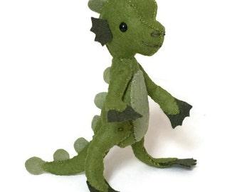Sea Creature: Hand Stitched Felt Nessie Doll