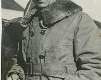 Pilot Captain J. M. Haight antique aviation photo