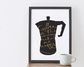 A4 Coffee Lover print - coffee poster - kitchen print - Coffee print
