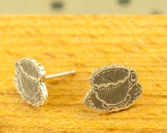 Tea cup earrings silver