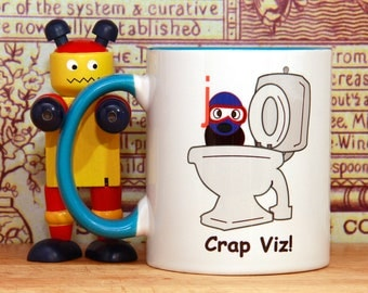 Scuba diver gift, gift for scuba diver, Crap Viz Diver mug, scuba diver mug, scuba mug, scuba diving mug, scuba diving gift, E1234