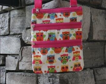 Monogrammed Messenger Bag Owl Messenger Purse